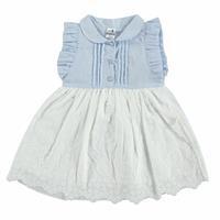 Summer Baby Girl Petter Pan Neck Short Sleeve Dress