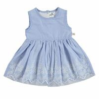 Summer Baby Girl Short Sleeve Crew-Neck Dress
