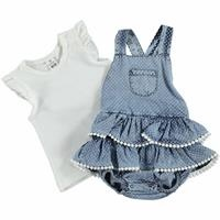 Summer Baby Girl Vual Short Sleeve Dungarees