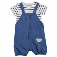 Summer Baby Boy Koala Short Sleeve Dungarees T-shirt 2 pcs Set
