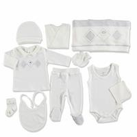 Bear Embroidered Newborn Hospital Pack 10 pcs
