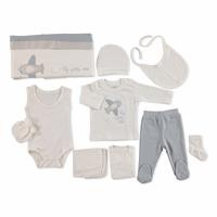 Plane Embroidered Newborn Hospital Pack 10 pcs