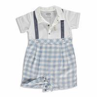Summer Baby Cute Animals Cotton Short Sleeve Crew Neck Jumpsuit 2 pcs
