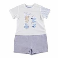 Summer Baby Boy Thumbs Up Music Jumpsuit
