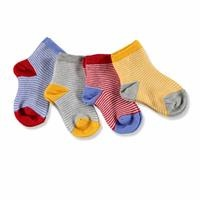 Baby Boy Striped Cotton Socks 4 pcs