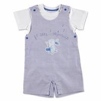 Summer Baby Boy Thumbs Up Music Dungarees T-shirt Set