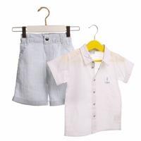 Yaz Erkek Bebek Çapa Gömlek-Şort Takım