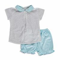 Yaz Kız Bebek Güzel Çiçek Bluz-Külot Takım