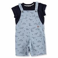 Summer Baby Boy Dino T-shirt Dungarees Set