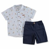 Summer Baby Boy Short Sleeve Shirt Short Set