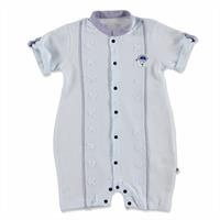 Summer Baby Boy Sailor Bear Poplin Short Sleeve Jumpsuit