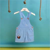 Summer Baby Boy Puppy Embroidered Dungarees