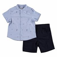 Submarine Cotton Short Sleeve Shirt - Short 2 pcs Set