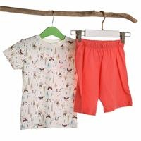Animals Feature Printed Short Sleeve Baby Pyjamas