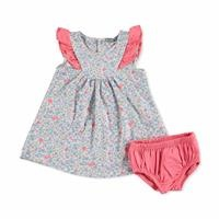 Yaz Kız Bebek Çiçekli Süprem Elbise