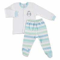 Stars Baby Snaps Cardigan Footed Pants 2 pcs
