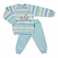 Kış Erkek Bebek Stars Sweatshirt Alt 2Li Takım