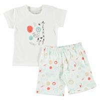 Lion Printed Short Sleeve Baby Pyjamas