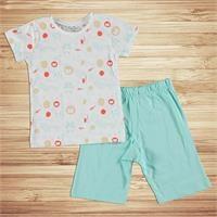 Aslancık Metraj Baskılı Kısa Kol Erkek Bebek Pijama Takımı