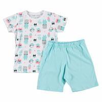 Kaktüs Metraj Baskılı Kısa Kol Bebek Pijama Takımı