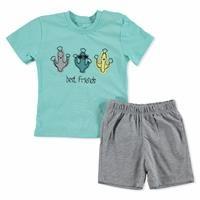 Summer Baby Boy Happy Friends T-shirt Short 2 pcs Set