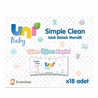Simple Clean Islak Mendil 18x52 Adet
