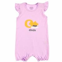 Summer Baby Girl Ruffled Letters Jumpsuit