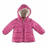 Baby Girl Kitty Printed Water Repellent Coat