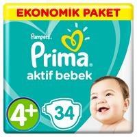 Bebek Bezi Aktif Bebek 4+ Beden Maxi Plus Ekonomik 10-15 kg 34 Adet
