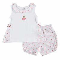 Kız Bebek Cherry Nakışlı Bluz Şort Takım