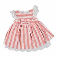 Striped Baby Girl Ruffled Detail Sleeveless Dress