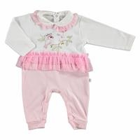Tulle Baby Detail Emboidered Footless Romper