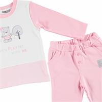 Cloud Baby Girl Sweatshirt Trousers Set