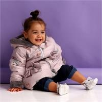 Winter Bowtie Pocket Baby Girl Soft Lined Coat