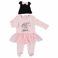 Minnie Mouse Licensed Footed Romper Hat Set