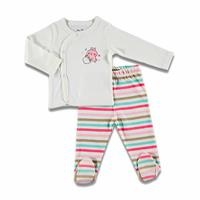 Yummy Baby Bodysuits Footed Pants 2 pcs Set