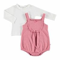 Bella Baby Ruffled Short Romper Sweatshirt 2 pcs
