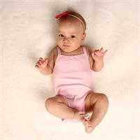 Viscose Blend Soft Baby Girl Rope Strap Bodysuit