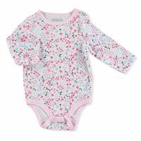 Kış Kız Bebek Bebek Baskılı Uzun Kol Body