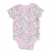 Kış Kız Bebek Bebek Baskılı Kısa Kol Body