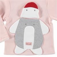 Penguin Theme Baby Backpack Detailed Cardigan