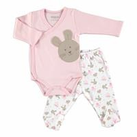 Rabbit Theme Baby Bodysuits Footed Trousers Set