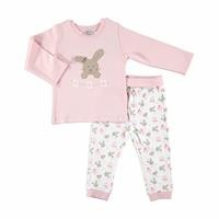 Rabbit Theme Baby Rib Tracksuit Set