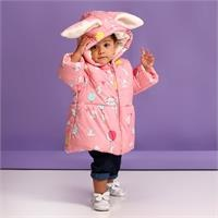 Baby Girl Rabbit-Eared Water Repellent Coat