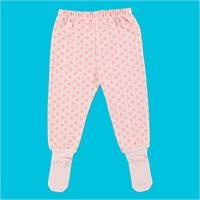 Heart Organic Baby Footed Trousers