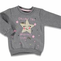 Happy Face Printed Baby Girl Sweatshirt
