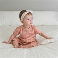 Organik Baskılı Kız Bebek Kısa Tulum