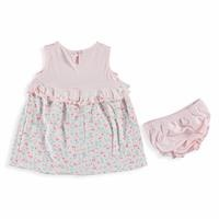 Cherry Baby Girl Dress Panty Set
