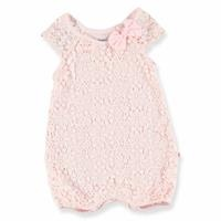 Lacy Texture Baby Short Romper