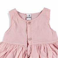 Kız Bebek Nakışlı Düğmeli Elbise